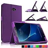 Infiland Galaxy Tab A 10.1 Hülle Case, Slim dünne Kunstleder Schutzhülle Cover Tasche für Samsung Galaxy Tab A 10.1 (2016) SM-T580N/SM-T585N (mit Auto Schlaf/Wach Funktion)(Lila)