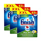 Finish All in 1 Citrus Spülmaschinentabs 63 Tabs 3er Pack