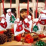 voloki Hanging Pack, Hanging Christmas Calendar Candy Bag Weihnachtsdekoration, Machen Sie tolle...