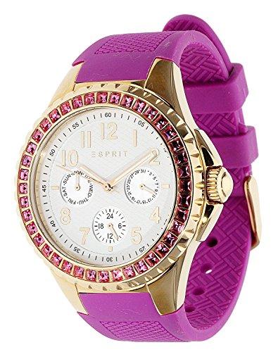 Esprit ES106622003 - Reloj analógico de cuarzo para mujer, correa de resina color rosa