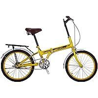 YEARLY Bicicleta plegable mujer, Adultos bicicleta plegable De una sola velocidad Ciudad Estudiante Bicicletas de