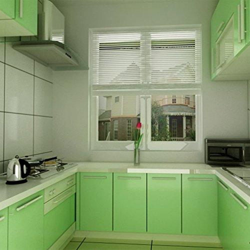 Kinlo Selbstklebende Folie Küche Grün 2 Stk 61x500cm Tapeten Küche Aus Hochwertigem Pvc Klebefolie Aufkleber Küchenschränke Wasserfest Möbelfolie Für