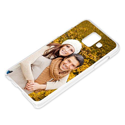PixiPrints Personalisierte Premium Foto-Handyhülle für Samsung Galaxy-Serie Selbst Gestalten mit Foto Bedrucken, Hülle:TPU-Silikon/Transparent (Seiten), Handy:Samsung Galaxy A6 (2018)
