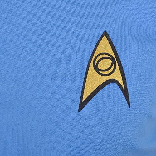 Star Trek Mondi Uniforme Spock Maglietta Astronave della Galassia Baumw Shell Costume Blu Calzata Confortevole