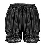 iixpin Damen Spitze Sicherheits Shorts Tanzen Yoga Ballett Shorts Kurz Hose Sicherheitshosen Under Shorts Schwarz One Size