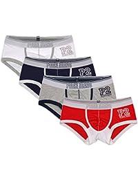 V-SOL Men Underwear Calzoncillos Slips Bóxer Briefs Para Hombre Algodón Forma ...