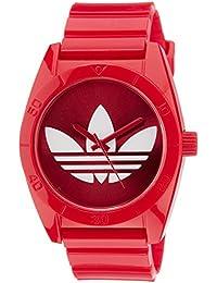 adidas Originals ADH2655 - Reloj analógico de cuarzo para hombre con correa de plástico, color rojo