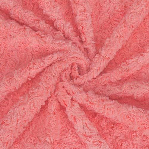 Neotrims Douce Pile Tissu Fourrure Minky Rose 20 Couleurs, Arrière-plan en Photographie et Bébé, Artisanal et Habillement Vetement. Superbes Nouvelles Couleurs Terreuses.