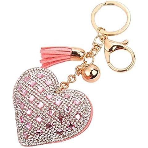 ZPL Nappa amore diamante catena chiave di cuoio , 2 - Diamante Del Nastro Scorrevole