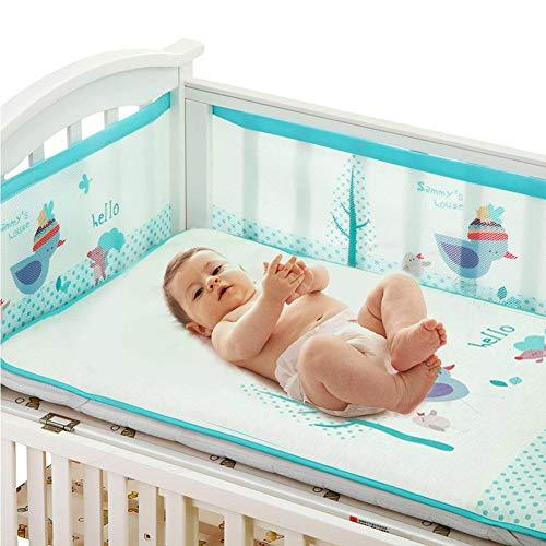 Depruies Baby Betteinlage für Babybett, stoßfest, verstellbar, für 4 Jahreszeiten, universell blau