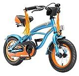 BIKESTAR Original Premium Design Kinderfahrrad für coole Kids ab 3 Jahren  12er Deluxe Cruiser Edition  Teuflisch Schwarz (matt)