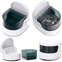 Mini Tragbare Ultraschall-Schmuck-Reinigungsmaschine, Kleiner Haushalt zur Reinigung von Brillen, Ringen, Zahnprothesen, Halsketten, Uhren, Münzen