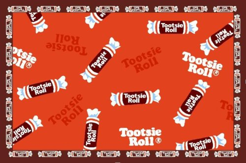 Tootsie Roll Tootsie Roll Candy 19x29 Play Time Nylon Area Rug TR-03 1929 (Candy Tootsie Rolls)