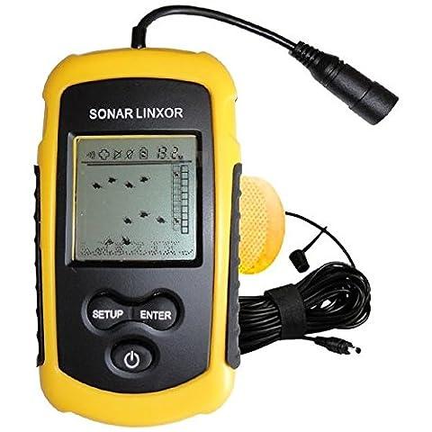 Linxor France ® Détecteur de poisson, sondeur 100m, sonar - Norme CE