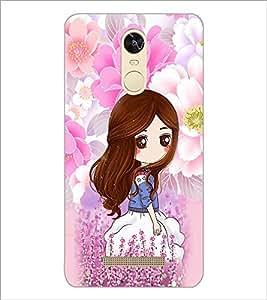 PrintDhaba Cute Girl D-4794 Back Case Cover for XIAOMI REDMI NOTE 3 (Multi-Coloured)