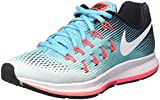 NIKE Damen WMNS Air Zoom Pegasus 33 Laufschuhe, Türkis (Glacier White/Polarized Blue/Black), 37.5 EU