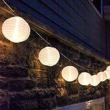Eleganbello, Catena Luminosa, Striscia di Luci, 20 LED, 4,8m, Funzionano a Energia Solare, Lanterne, Lucine Decorative per Interno e Esterno