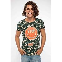 DeFacto Lisanslı Kamuflaj Desenli T-shirt