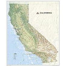 California, laminated Wall Maps U.S. (Reference - U.S.)