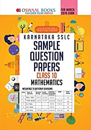Oswaal Karnataka SSLC Sample Question Papers for Class 10 Mathematics (March 2019 Exam) Old Edition