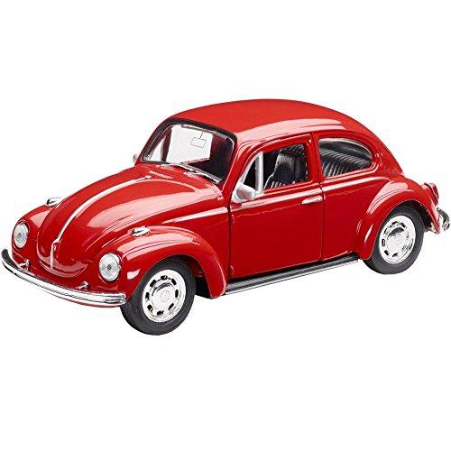 Volkswagen 111087511 Spielzeugauto Käfer mit Rückziehfunktion, Rot (Vw Spielzeug Käfer)