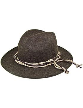 Trachtenhut mit Hanfkordel Braun - Hochwertiger Herrenhut zur Lederhose und Trachtenhemd