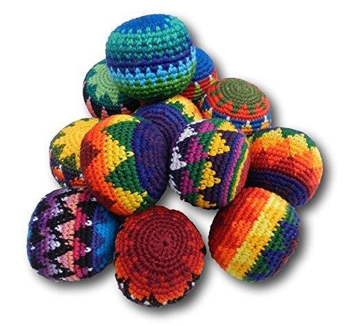 new-3x-hacky-sack-kick-up-ball-pin-cushion-stress-juggling-set-child-fair-trade