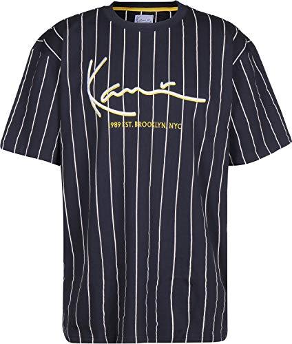 Karl Kani Signature Pinstripe T-Shirt Navy White 34893fd4633