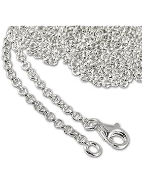 SilberDream 925 Sterling Silber Charm Halskette 100cm Kette für Charms Armband Anhänger FC00281-1