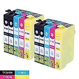 DOREE 10 Compatible Printer Cartridges for EPSON T1281?T1284, EPSON Stylus Office BX 305 F 22 EPSON Stylus S, SX 125, SX