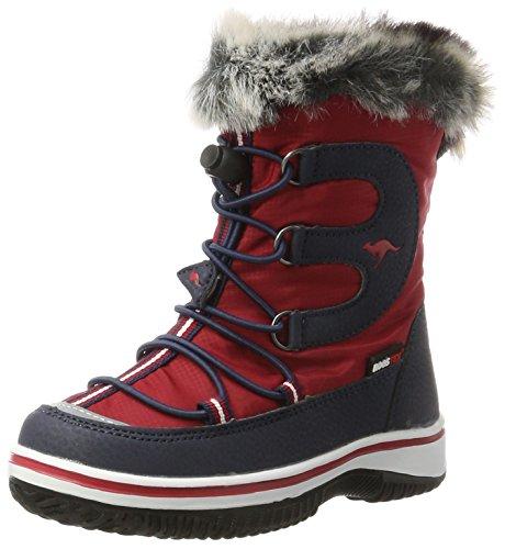 Kleine Mädchen-schnee-stiefel (KangaROOS Unisex-Kinder Maple Schneestiefel, Rot (K Red/K Blue), 33 EU)