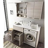 Lavandino Con Sotto Lavatrice.Amazon It Lavatrice Mobiletti Con Lavabo Bagno Casa E Cucina