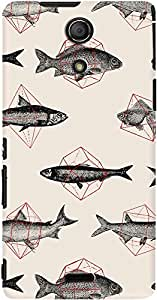 DailyObjects Fishes in Geometrics Case For Sony Xperia ZR