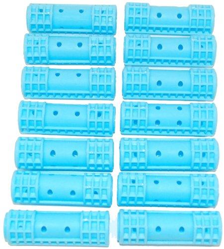 Lot de 14 bigoudis Bleu Small, diamètre : 16 mm