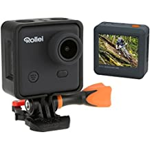 Rollei Actioncam 400 - Videocámara de acción Full HD (3 Mp, WiFi, 30 fps, 150°, sumergible hasta 40 m, 1000 mAh), color negro y naranja
