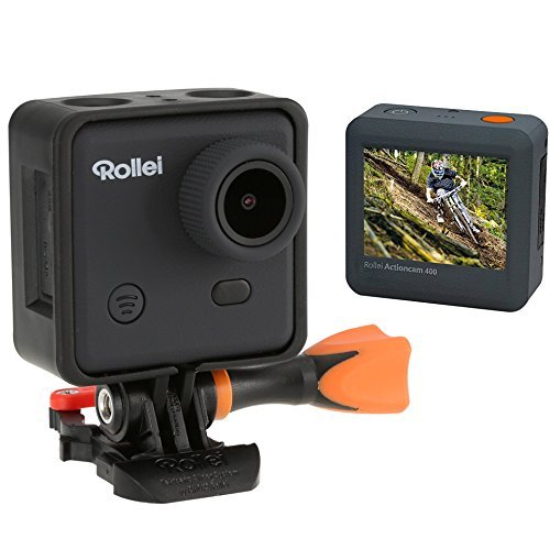 Rollei Actioncam 400 - Videocámara de resolución Full HD Video 1080 p/30 fps con WiFi integrado (lapso de tiempo foto, sumergible hasta 40 m), color negro y naranja