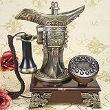 High-End-atmosphärisches antikes Telefon, Chinesische klassische Winebowl Form High End Retro Handwerk Geschenk Telefon Solid Wood Home Office Festnetz (das beste Geschenk für Freunde, die chinesische alte Kultur lieben) WYQLZ