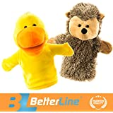 Better Line Animal Hand Puppets Set Of 2- Premium Quality - B06ZYXPF8T