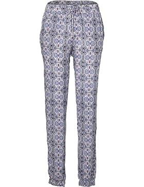 O'Neill Beachy Beach Pantalones, Mujer, Blanco AOP w/Azul, S