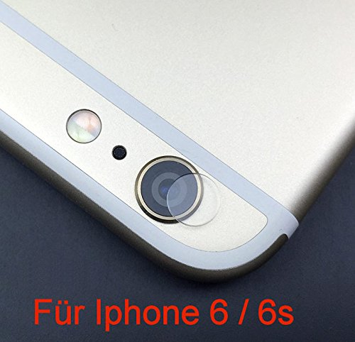 KRS - LP6 - iPhone 6 6S Kamera Linsenschutz Echtglas Tempered Glas Display Kratz Schutz Folie (Für Iphone 6) (Iphone-kamera-objektiv-protector)