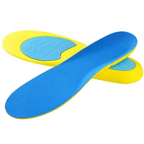 Soumit Solette Sport Antishock S (EU 39-43), Solette Confortevole Traspirante per Correre Jogging, Soletta Antiodore Libero per Alleviare Piedi Dolore e Piede Pressione