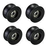Chiloskit 5PCS nylon 8x 40x 20mm U Groove Guidacinghia cuscinetto pista cuscinetto a rulli