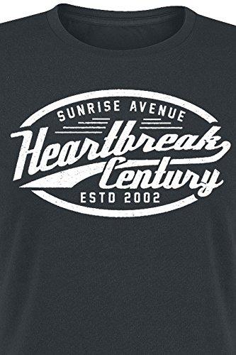 Sunrise Avenue Heartbreak Century - Oval Sign Girl-Shirt Schwarz Schwarz