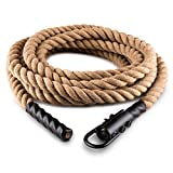 Klarfit Power Rope Kletterseil Schaukelseil mit Haken Schwungtau Tarzanseil mit