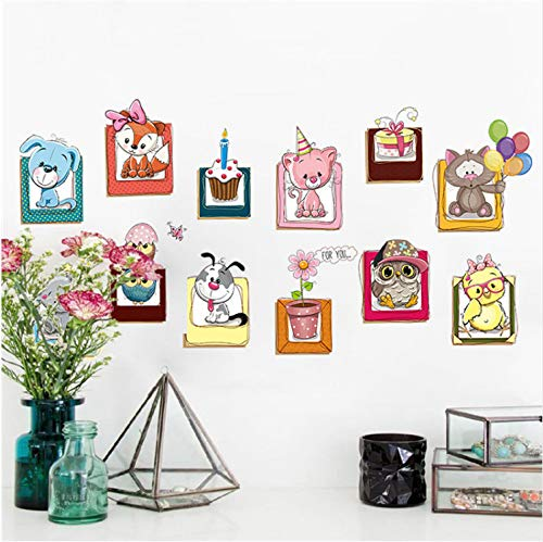 Multi-Picture Wall Stickers New 2018 Stream Floor Wall Sticker Removable  Mural Decals Vinyl Art Living Room Decor Cute Animals