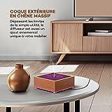 Diffuseur Zen Chambre VAVA au Design Zen Japonais en Vrai Chêne Massif  (90ml, 5 Couleurs LED, 2 Modes de Brumisation et Arrêt automatique)  Diffuseur ...