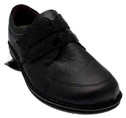 art M2422 pelle nera forma extra large forma extra large scarpe donna 37 nero