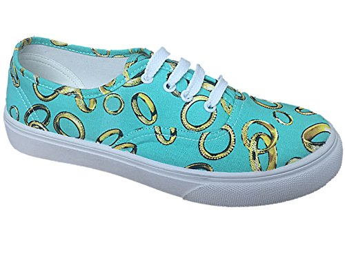 Foster Footwear , Damen Sneaker Turquoise (Rings)