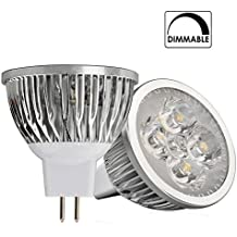 6 X Bombillas LED 6W GU5.3 MR16, Regulable Dimmable, Blanco Cálido 2900K, 12V AC/DC, 380lm, Lámparas Halógenas Equivalentes a 40W, Haz de luz de 60º