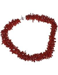 Encantador toque moderno Coral rojo collar gargantilla de ramas 47cm–presentado en una bonita caja de regalo